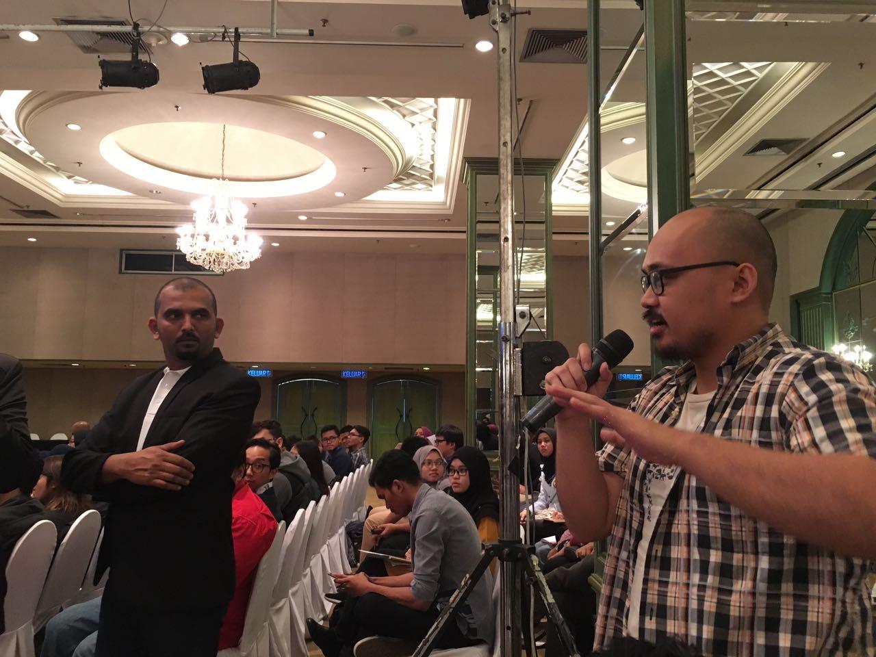Jeremy Jecky, Antara Belia yang hadir dan bertanyakan soalan semasa majlis pelancaran AIFFA 2017.