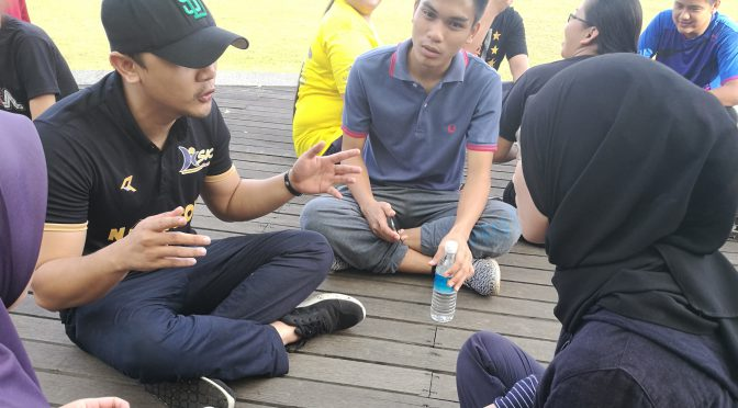 The second day of the bootcamp was outdoors, where AYS volunteers took part in games and team-building activities.