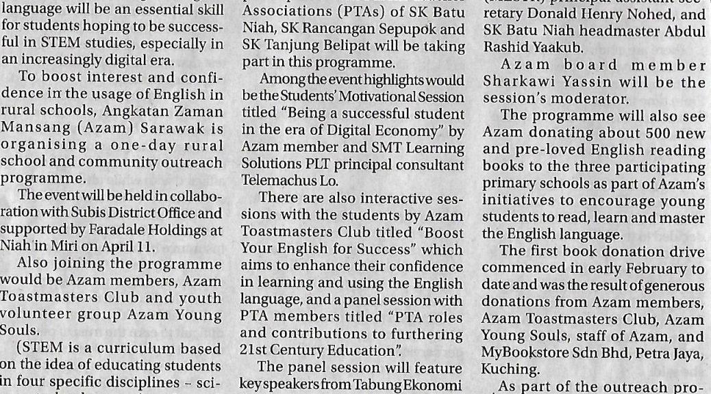 Scan Sarawak Tribune Community Outreach Programme