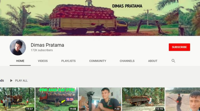 Seeing the human side of the oil palm industry through YouTuber Dimas Pratama