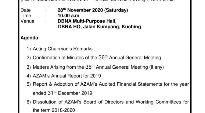 Notice of change in venue of Annual General Meeting