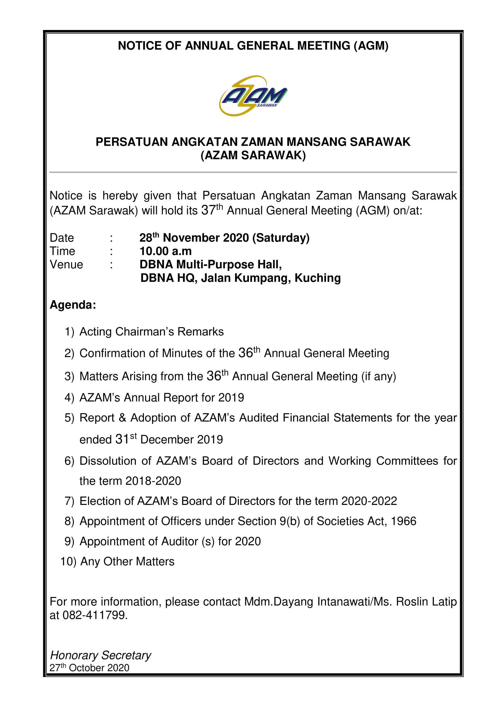 notice of 37th AGM_(ADVERTISEMENT)19.11-1